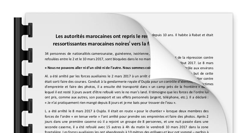 34 personnes bloquées entre Maroc et Algérie