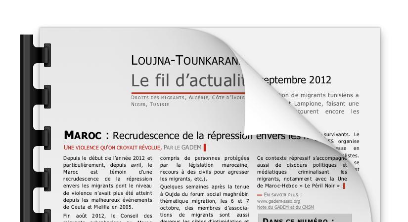 Le fil d'actualité #2 – Novembre 2012